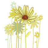Flowers icons set, vector illustration.  Royalty Free Stock Photo