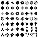 64 flowers icons set. Vector illustrations of set of 64 flowers icons Vector Illustration