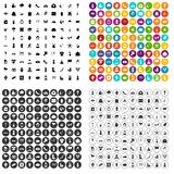 100 flowers icons set vector variant. 100 flowers icons set vector in 4 variant for any web design isolated on white royalty free illustration