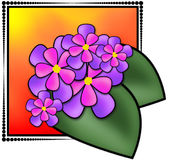 Flowers Illustration. Made in Paint Shop Pro9. This image is a Dreamstime exclusive Royalty Free Illustration