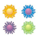 Flowers illustration. Four flowers stock illustration