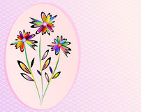 Flowers illustration. Background color frame vector stock illustration