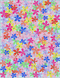 Colorful print flowers Stock Photo