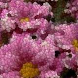 Flowers image balls generated hires texture Stock Photos