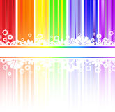 Flowers In Rainbow Stripes Royalty Free Stock Images