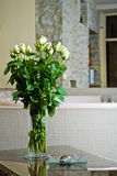 Flowers and jacuzzi Royalty Free Stock Photography