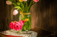The flowers in the jar Royalty Free Stock Photos