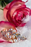 Flowers and jeweller Royalty Free Stock Photo