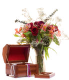 Flowers and Jewelry Stock Images