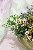 Flowers in the kitchen. Home Decor royalty free stock photography