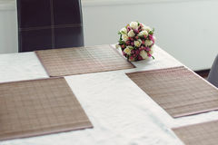 Flowers on Kitchen Table Stock Image