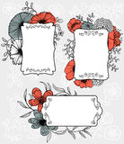 Flowers labels Stock Photography