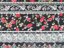 Flowers lace fabric Stock Images