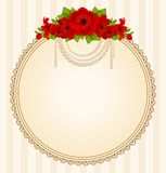 Flowers and lace ornaments Royalty Free Stock Photo