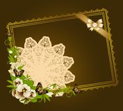 Flowers with lace ornaments Royalty Free Stock Photo