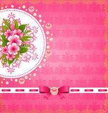 Flowers with lace ornaments Royalty Free Stock Photography