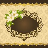 Flowers with lace ornaments Royalty Free Stock Images