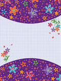 Butterflies Card Feminine_eps. Illustration of top and bottom flowers land card with butterflies. Center is your sample text. --- This .eps file info Version Royalty Free Illustration