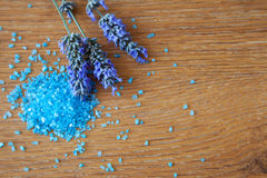 Flowers lavender bath salt Stock Image