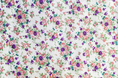 Flowers and leaf on fabric pattern Royalty Free Stock Photos