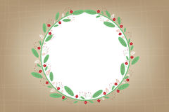 Flowers and leafs on vintage background . Royalty Free Stock Photos