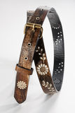 Flowers Leather Belt Royalty Free Stock Photography