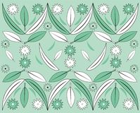 Flowers and leaves. Spring background with flowers and leaves Royalty Free Illustration