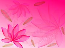 Flowers and leaves. Colours and tones for this flowers background vector illustration
