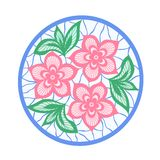 Flowers and leaves element. imitation guipure embroidery. Stock Images