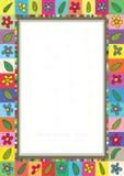 Flowers Leaves Frame_eps royalty free illustration