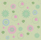 Flowers & leaves pattern Stock Photos