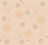 Flowers & leaves pattern Royalty Free Stock Images