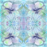 Flowers and leaves.Watercolor. Wallpaper. Seamless pattern.  Wallpaper. Stock Photos
