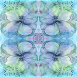 Flowers and leaves.Watercolor. Wallpaper. Seamless pattern.  Wallpaper. Royalty Free Stock Images