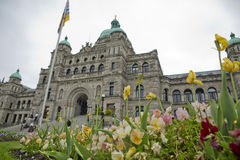 Flowers Legislative building Royalty Free Stock Photos