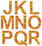 Flowers letters J-R Stock Image