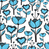 Flowers love pattern Royalty Free Stock Image