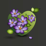 Flowers of a lilac in the form of a heart. Valenti Royalty Free Stock Photos
