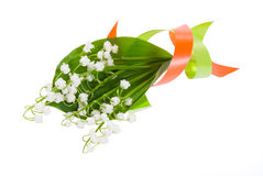 Flowers lilies of the valley with color tape Stock Photography