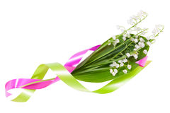 Flowers lilies of the valley with color tape Royalty Free Stock Photography