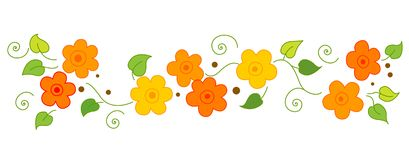 Flowers Line / divider Stock Photos