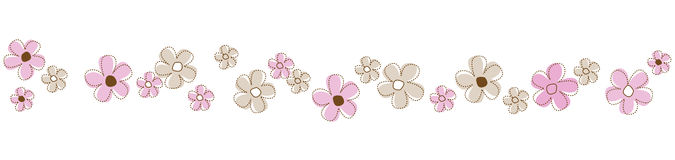 Flowers Line / divider stock illustration