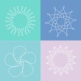 Flowers line drawings Stock Image