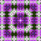 Flowers lines and square, pattern from tiles and border in violet, green and lilas. Flowers lines and square, pattern from tiles and border Stock Photos