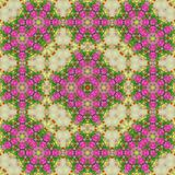 Flowers lines and square, pattern from tiles and border in pink ans lilas. Flowers lines and square, pattern from tiles Stock Image
