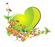 Flowers of Love Green Stock Photos