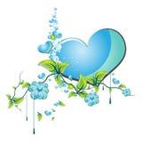 Flowers Love Heart Stock Photo