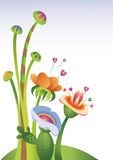 Flowers of Love illustration Stock Photography