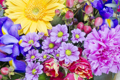 Flowers for the lovely  girlfriend Royalty Free Stock Images