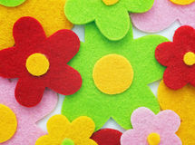 Flowers made of felt Royalty Free Stock Photos